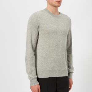 Maison Margiela Men's Elbow Patch 12 Gauge Knitted Jumper - Light Grey