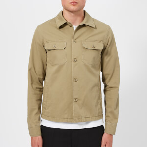 Maison Margiela Men's Cotton Gabardine Worker Jacket - Beige