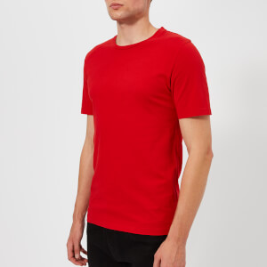 Maison Margiela Men's Garment Dyed T-Shirt - Red