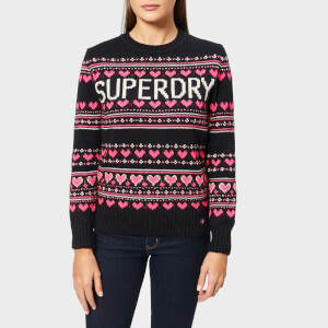 Superdry Women's Cleveland Fairisle Knit Jumper - Soft Navy
