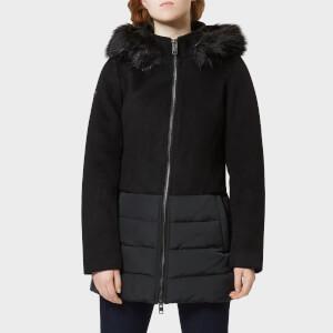 Superdry Women's Wool Padded Hybrid Coat - Black