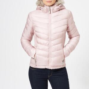 Superdry Women's Hooded Luxe Chevron Fuji Jacket - Rose Quartz