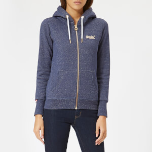 Superdry Women's Orange Label Sparkle Borg Zip Hoodie - Princedom Blue Marl