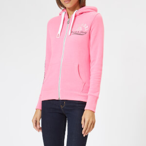 Superdry Women's Track & Field Zip Hoodie - Track Hot Pink