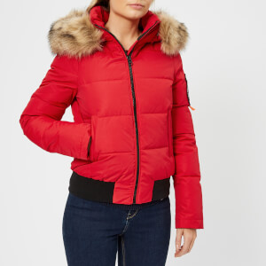 Superdry Women's Everest Ella Bomber Jacket - Red