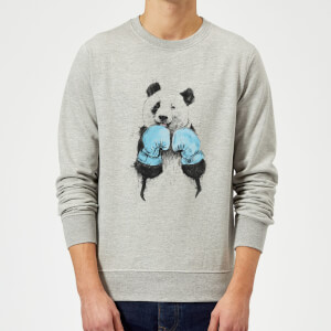 Balazs Solti Boxing Panda Sweatshirt - Grey