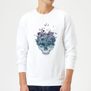 Balazs Solti Skulls And Flowers Sweatshirt - White