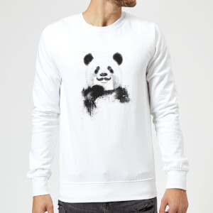 Balazs Solti Moustache And Panda Sweatshirt - White