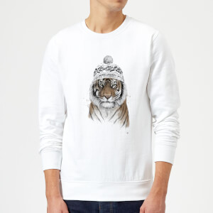 Balazs Solti Winter Tiger Sweatshirt - White