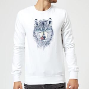 Balazs Solti Wolf Eyes Sweatshirt - White