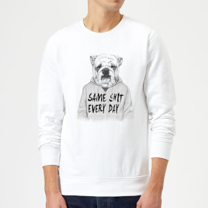 Balazs Solti Same Shit Every Day Sweatshirt - White