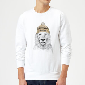 Balazs Solti Lion With Hat Sweatshirt - White