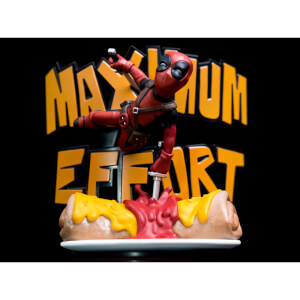 Statuette Deadpool Maximum Effort MAX Diorama Q-Fig Marvel