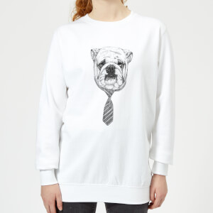 Suited And Booted Bulldog Women's Sweatshirt - White