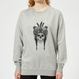 Bear Head Women's Sweatshirt - Grey