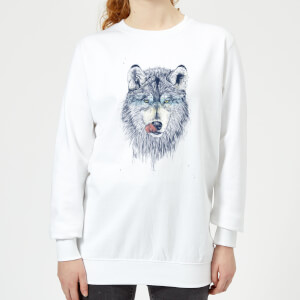 Wolf Eyes Women's Sweatshirt - White