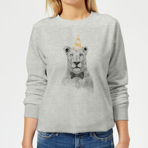 Party Lion Women's Sweatshirt - Grey