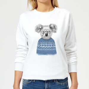 Koala And Jumper Women's Sweatshirt - White