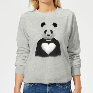 Panda Love Women's Sweatshirt - Grey