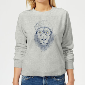 Lion Women's Sweatshirt - Grey