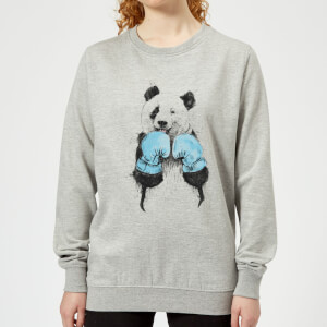 Boxing Panda Women's Sweatshirt - Grey
