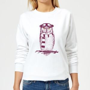 Winter Owl Women's Sweatshirt - White