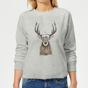 Winter Deer Women's Sweatshirt - Grey