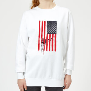 USA Cage Women's Sweatshirt - White
