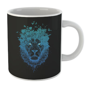 Lion And Butterflies Mug