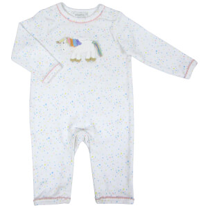 Albetta Crochet Rainbow Unicorn Babygrow - 0-3 Months