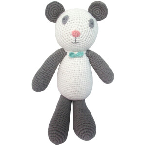 Albetta Crochet Paul Panda Rattle Toy
