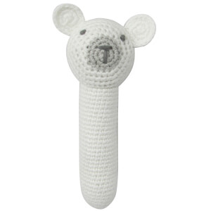 Albetta Crochet Polar Bear Stick Rattle