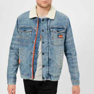 Superdry Men's Hacienda Denim Jacket - Battle Down Vintage