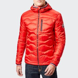 Superdry Men's Wave Quilt Jacket - Bright Red