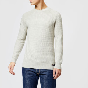 Superdry Men's Academy Texture Jumper - Porridge