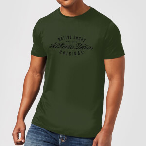 Camiseta Native Shore Authentic Denim - Hombre - Verde oscuro