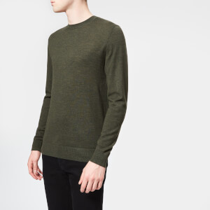Aquascutum Men's Carston Core Merino Knitted Jumper - Military Green