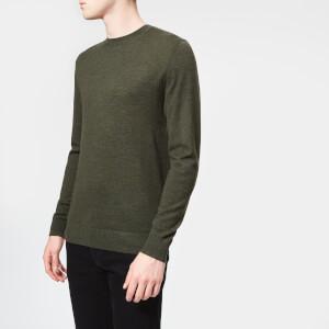 37d552ebf5ac Aquascutum Men s Carston Core Merino Knitted Jumper - Military Green