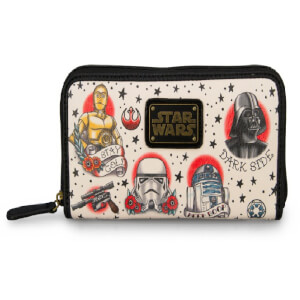 Star Wars Loungefly Cartera Poli Piel Tattoo Flash Print