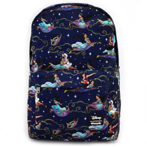 Loungefly Disney Aladdin Carpet Ride AOP Nylon Backpack