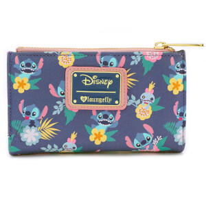 Loungefly Disney Stitch And Scrump Floral Aop Wallet