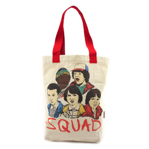 Loungefly Stranger Things Squad Canvas Tote Bag