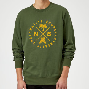 Native Shore Authentic Surf Circle Sweatshirt - Forest Green