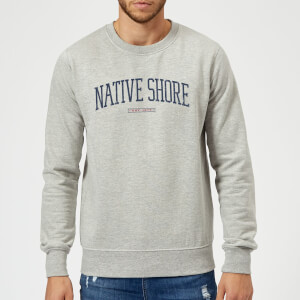 Native Shore Varsity Curved Sweatshirt - Grey