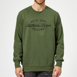 Native Shore Authentic Denim Sweatshirt - Forest Green