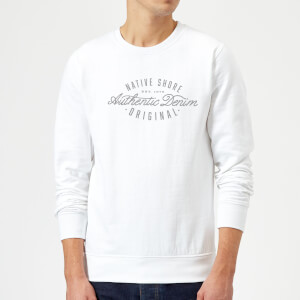 Native Shore Authentic Denim Sweatshirt - White