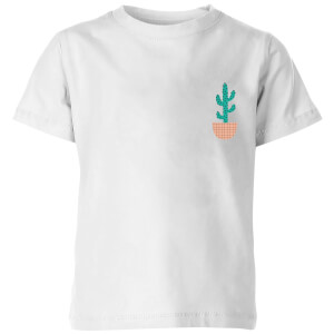 My Little Rascal Cacti Pocket Kids' T-Shirt - White