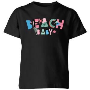 My Little Rascal Beach Baby Kids' T-Shirt - Black