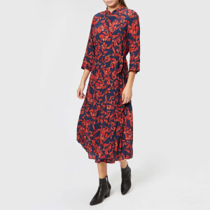 Gestuz Women's Raida Long Dress - Red Flower