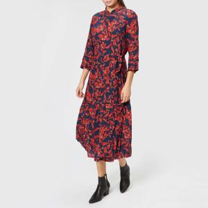 Gestuz Women's Raida Long Dress - Red Flower